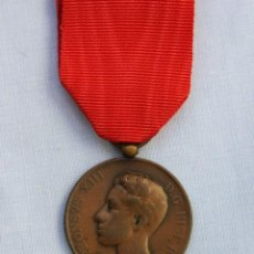 Militaria: MEDALLA MAYORIA EDAD DE ALFONSO XIII -1902 - COBRE. Lote 186436495