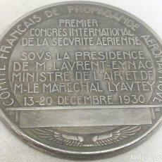 Militaria: RÉPLICA MEDALLA 1930. I CONGRESO INTERNACIONAL DE SEGURIDAD AÉREA. FRANCIA. Lote 187379941