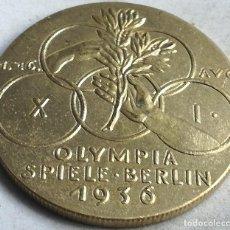 Militaria: RÉPLICA MEDALLA 1936. JUEGOS OLÍMPICOS DE VERANO. BERLÍN. ALEMANIA. PRE II GUERRA MUNDIAL. Lote 240769870