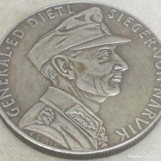 Militaria: RÉPLICA MEDALLA GENERAL EDUARD DIETL. BATALLA DE NARVIK. 10-6-1940. II GUERRA MUNDIAL, ALEMANIA. Lote 187380835