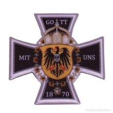 Militaria: INSIGNIA PIN CRUZ ALEMANIA IMPERIAL GOTT MIT UNS 1870. Lote 187448790