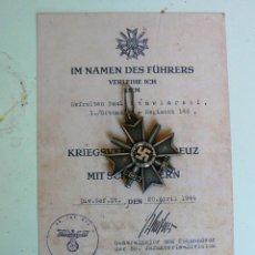 Militaria: CRUZ POR MERITO MILITAR 1939 TERCER REICH. NAZI. Lote 187477322