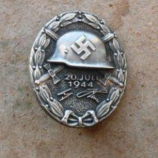 Militaria: INSIGNIA DE HERIDA DEL 20 DE JULIO DE 1944 (PLATA)TERCER REICH. NAZI. Lote 187542921