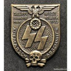 Militaria: INSIGNIA SS FRANKFURT 1933 ALEMANIA TERCER REICH PARTIDO NAZI SCHUTZSTAFFEL. Lote 202263963