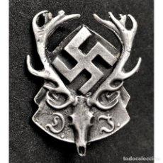 Militaria: INSIGNIA ASOCIACION ALEMANA DE CAZA ALEMANIA TERCER REICH PARTIDO NAZI NSDAP. Lote 187616061