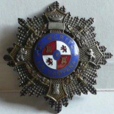 Militaria: PLACA MÉRITO EN CAMPAÑA FABRICANTE CASTELLS - MÁS INSIGNIA EN MINIATURA. Lote 188401808