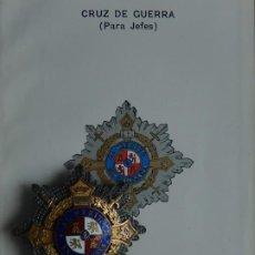 Militaria: PLACA. CRUZ DE GUERRA. PARA JEFES.. Lote 188447828