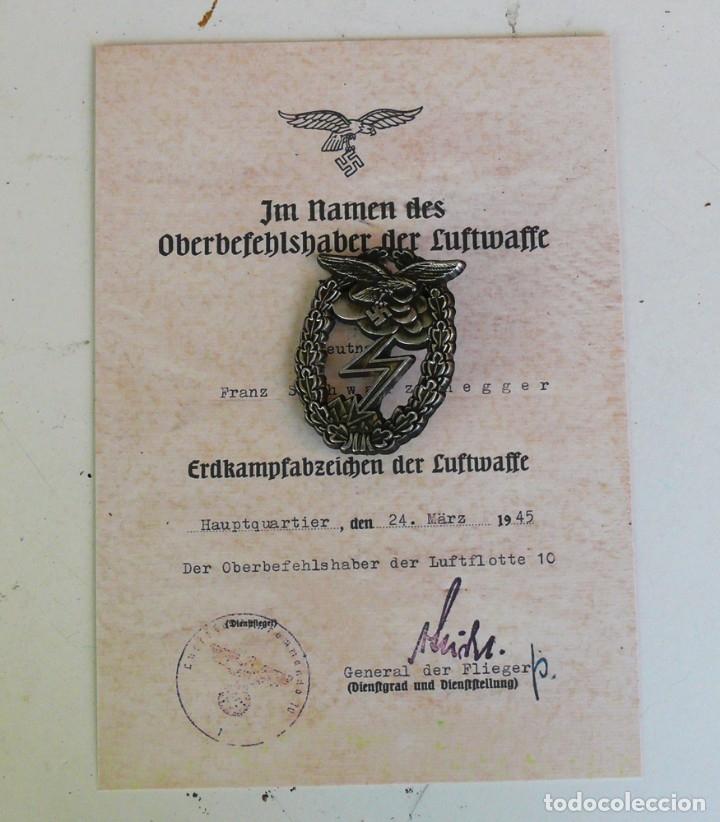 Militaria: PLACA LUFWAFFE COMBATE TIERRA. ALEMANIA. 2ª GUERRA MUNDIAL. 1939-1945 - Foto 2 - 224926115