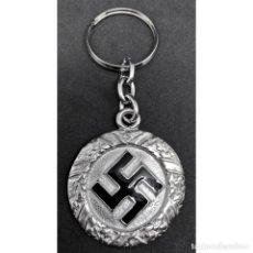 Militaria: LLAVERO ESVASTICA ALEMANIA TERCER REICH PARTIDO NAZI NSDAP. Lote 260369245