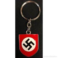 Militaria: LLAVERO DISTINTIVO CASCO ALEMAN HEER ALEMANIA TERCER REICH PARTIDO NAZI WEHRMACHT. Lote 256044915