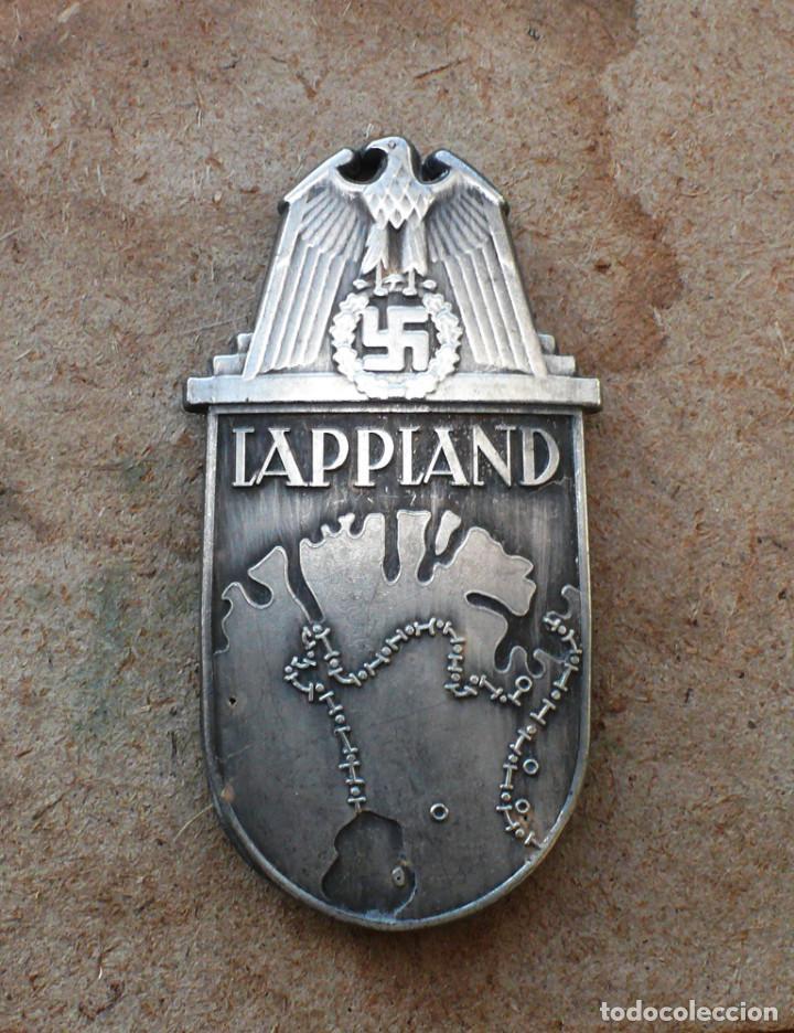 INSIGNIA LAPLAND ESCUDO DE BATALLA TERCER REICH. NAZI (Militar - Reproducciones y Réplicas de Medallas )