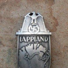 Militaria: INSIGNIA LAPLAND ESCUDO DE BATALLA TERCER REICH. NAZI. Lote 209620547