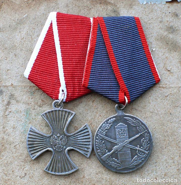 LOTE.2 MEDALLAS.FEDERACIÓN DE RUSIA (Militar - Reproducciones y Réplicas de Medallas )