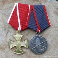 Militaria: LOTE N 2 . 2 MEDALLAS.FEDERACIÓN DE RUSIA. Lote 189299488