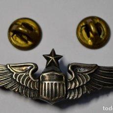 Militaria: ALAS DE PLATA MACIZA OFICIAL PILOTO FUERZAS AEREA DE ESTADOS UNIDOS DURANTE LA GUERRA DE COREA.. Lote 189409296