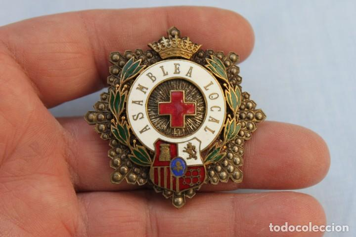 PLACA ASAMBLEA LOCAL CRUZ ROJA (Militar - Medallas Españolas Originales )