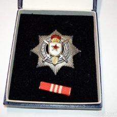 Militaria: BONITA MEDALLA DE PLATA DE YUGOESLAVIA.AL MERITO MILITAR DE 3ª CLASE.. Lote 189686288