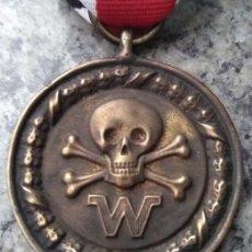 Militaria: INTERESANTE MEDALLA ALEMANIA NAZI III REICH DIVISIONES DE COMBATE CALAVERA 2ªG.M DE LAS WAFFEN SS. Lote 189725906