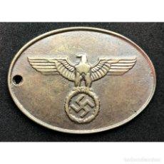 Militaria: CHAPA IDENTIFICACION GESTAPO SS POLICIA ALEMANIA PARTIDO NAZI TERCER REICH SCHUTZSTAFFEL. Lote 203999151