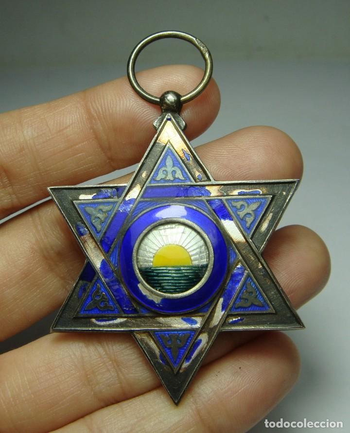 MEDALLA O CRUZ DE LA ORDEN DE MEDAHUIA. PLATA (CON CONTRASTES). ÉPOCA DE ALFONSO XIII (Militar - Medallas Españolas Originales )