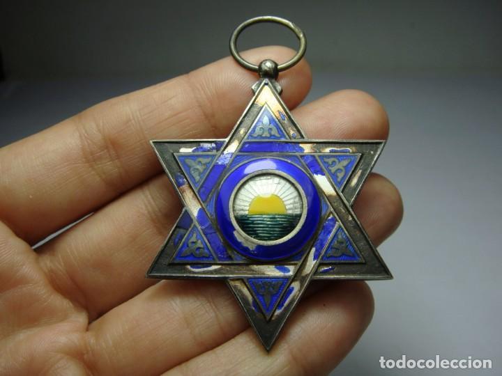 Militaria: Medalla o Cruz de la Orden de Medahuia. Plata (con contrastes). Época de Alfonso XIII - Foto 3 - 190370153