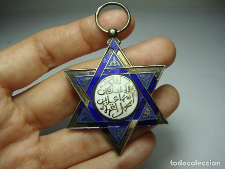 Militaria: Medalla o Cruz de la Orden de Medahuia. Plata (con contrastes). Época de Alfonso XIII - Foto 5 - 190370153