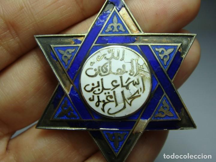 Militaria: Medalla o Cruz de la Orden de Medahuia. Plata (con contrastes). Época de Alfonso XIII - Foto 7 - 190370153