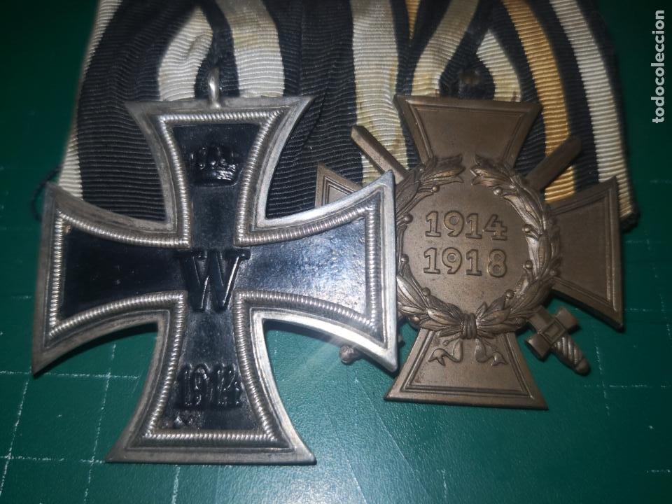 Militaria: ALEMANIA. I GUERRA MUNDIAL. PASADOR DE GALA CON CRUZ DE HIERRO 2 CLASE Y CRUZ DE COMBATIENTE - Foto 2 - 190375055