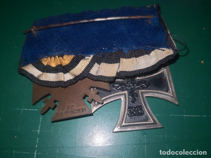 Militaria: ALEMANIA. I GUERRA MUNDIAL. PASADOR DE GALA CON CRUZ DE HIERRO 2 CLASE Y CRUZ DE COMBATIENTE - Foto 3 - 190375055