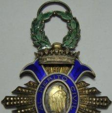 Militaria: CRUZ AL MERITO CIVIL. PLATA. ÉPOCA DE FRANCO (1942 - 1975). Lote 190376942