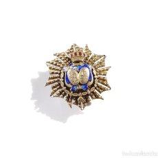 Militaria: MINIATURA. JUEZ. MINISTERIO DE JUSTICIA. ÉPOCA ALFONSO XIII. PLATA.. Lote 190396255