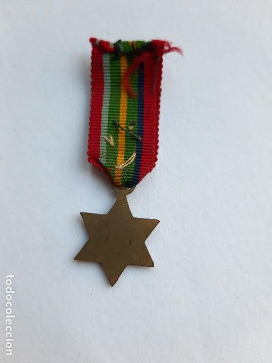 Militaria: WW2. REINO UNIDO. ESTRELLA DEL PACÍFICO. MINIATURA. 1939 1945 - Foto 2 - 190641556