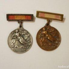 Militaria: 2 MEDALLAS ALZAMIENTO Y VICTORIA GUERRA CIVIL. PLATA Y COBRE, ORIGINALES. Lote 190649380