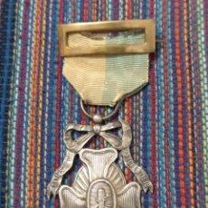 Militaria: MEDALLA PLATA CENTENARIO DE LOS SITIOS DE ASTORGA LEÓN 1910 CON ANILLA, CINTA Y PASADOR.. Lote 190827708