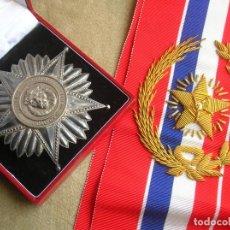 Militaria: ANTIGUA Y ESCASA ORDEN AL MERITO NACIONAL DE PARAGUAY. EXCEPCIONALES PLACA Y BANDA BORDADA.. Lote 190833642