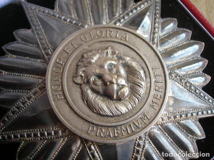 Militaria: ANTIGUA Y ESCASA ORDEN AL MERITO NACIONAL DE PARAGUAY. EXCEPCIONALES PLACA Y BANDA BORDADA. - Foto 5 - 190833642