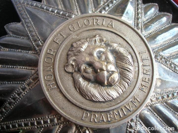 Militaria: ANTIGUA Y ESCASA ORDEN AL MERITO NACIONAL DE PARAGUAY. EXCEPCIONALES PLACA Y BANDA BORDADA. - Foto 8 - 190833642