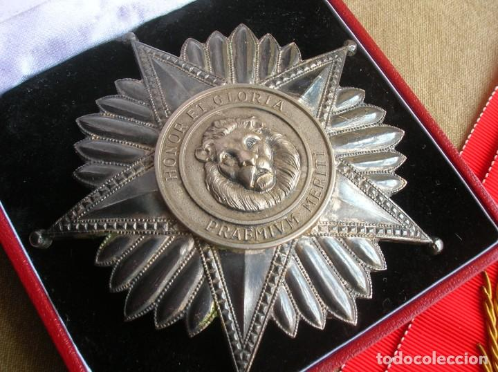 Militaria: ANTIGUA Y ESCASA ORDEN AL MERITO NACIONAL DE PARAGUAY. EXCEPCIONALES PLACA Y BANDA BORDADA. - Foto 10 - 190833642