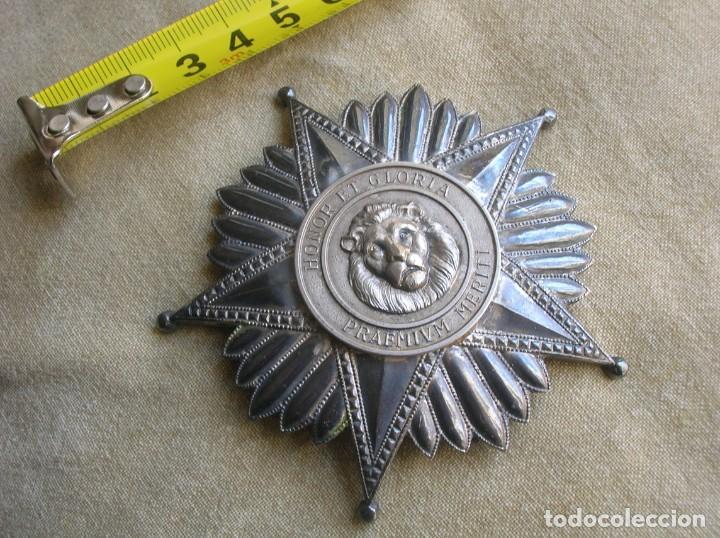 Militaria: ANTIGUA Y ESCASA ORDEN AL MERITO NACIONAL DE PARAGUAY. EXCEPCIONALES PLACA Y BANDA BORDADA. - Foto 13 - 190833642