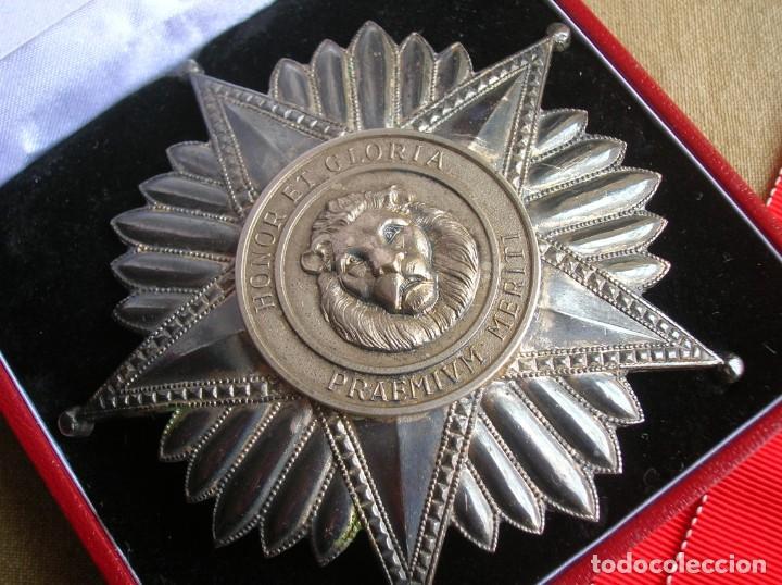 Militaria: ANTIGUA Y ESCASA ORDEN AL MERITO NACIONAL DE PARAGUAY. EXCEPCIONALES PLACA Y BANDA BORDADA. - Foto 14 - 190833642