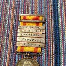 Militaria: 1875 MEDALLA DISTINCIÓN ALFONSO XII PLATA ORIA, OTEIZA, ESQUINZA, ELGUETA,. Lote 190895036