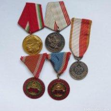 Militaria: PACTO DE VARSOVIA: LOTE DE 5 MEDALLAS. COLECCIÓN CONDECORACIONES: UNIÓN SOVIÉTICA, HUNGRIA Y POLONIA. Lote 191009971
