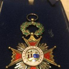 Militaria: ENCOMIENDA DE LA ORDEN DE ISABEL LA CATOLICA EN PLATA. Lote 191047351