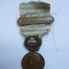 Militaria: FRANCIA 1922: MEDALLA DE LEVANTE (ORIENTE MEDIO) O DE LA GUERRA FRANCO-SIRIA.. Lote 191120886