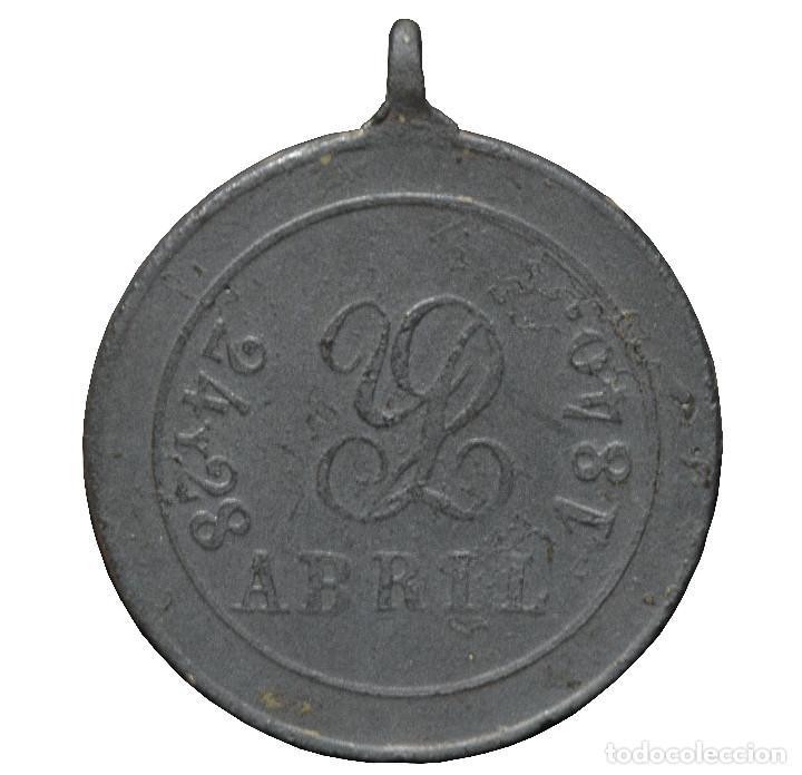 Militaria: MEDALLA EN BRONCE LLEIDA BATALLA DE PERACAMPS 1840 LERIDA - Foto 2 - 191172425