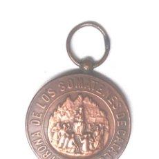 Militaria: MEDALLA VIRGEN MONTSERRAT PATRONA DE LOS SOMATENES DE CATALUÑA ALFONSO XIII 10 ABRIL 1904. MED. 3 CM. Lote 191199093