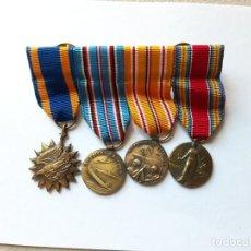Militaria: WW2. ESTADOS UNIDOS. PASADOR CONDECORACIONES PILOTO. MINIATURAS. 1939 1945. Lote 191469560
