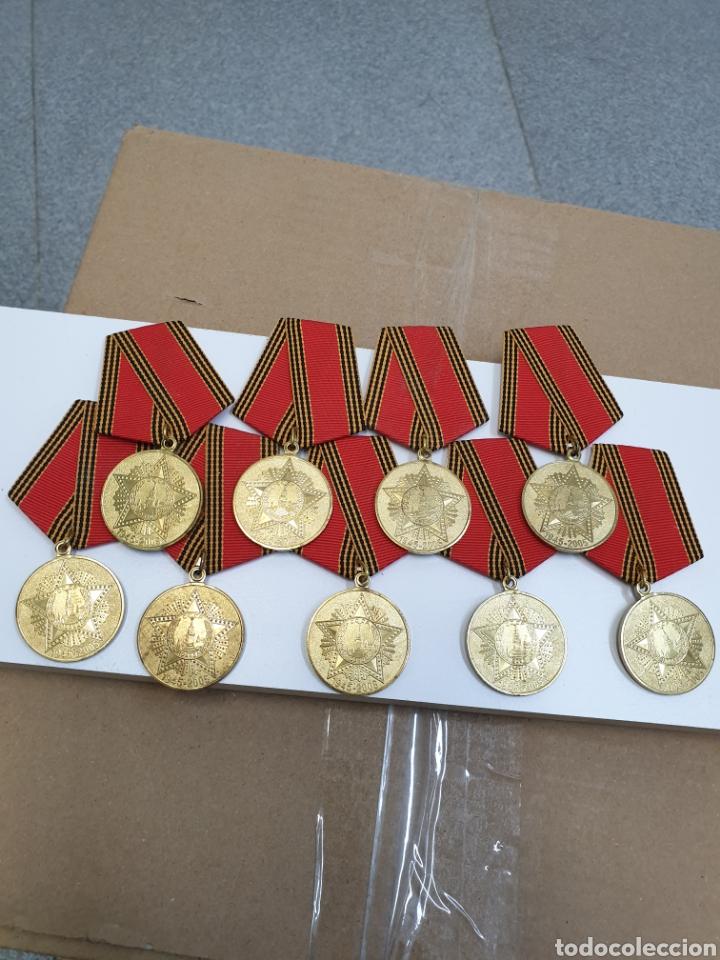 LOTE DE 9 MEDALLAS RUSAS.1945-2005 (Militar - Medallas Extranjeras Originales)