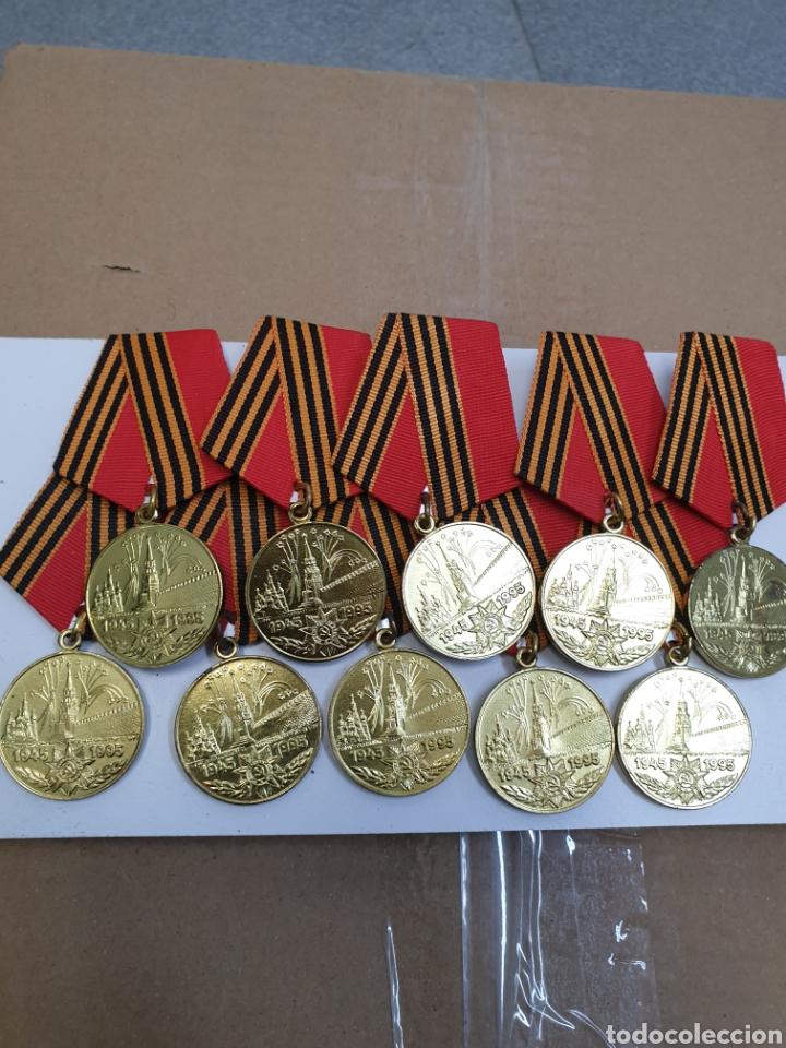LOTE DE 10 MEDALLAS RUSAS 1945-1995 (Militar - Medallas Extranjeras Originales)
