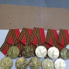 Militaria: LOTE DE 10 MEDALLAS RUSAS 1945-1995. Lote 191697615
